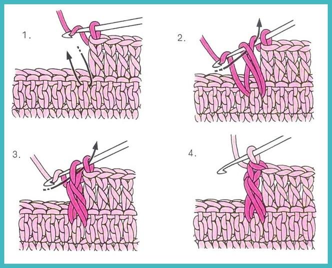 Вязание крючком изнаночные