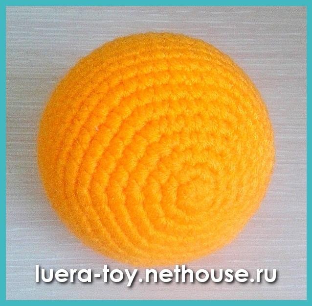 Амигуруми мячик схема